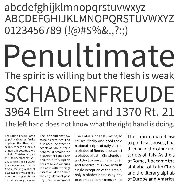 Tipografia Source Sans Pro