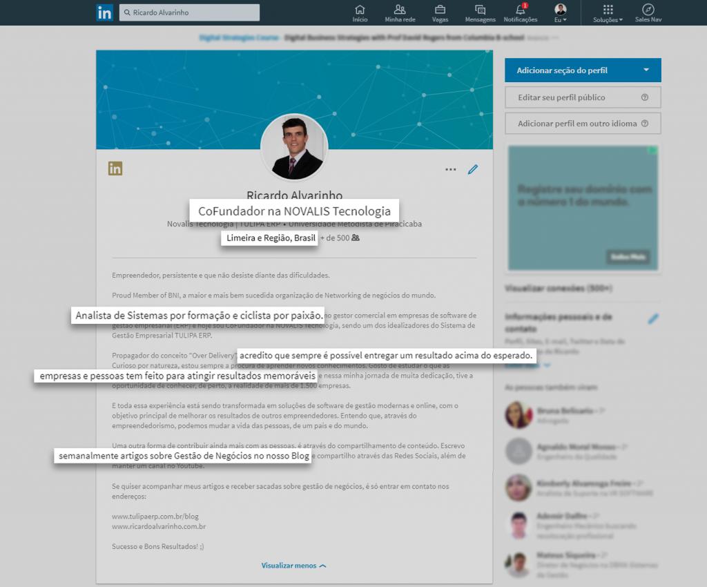 Linkedin de Ricardo Alvarinho